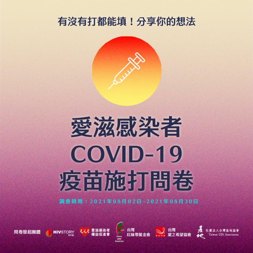 愛滋感染者COVID-19疫苗施打問卷